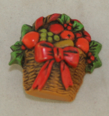 vintage christmas,hallmark,pin,fruit basket