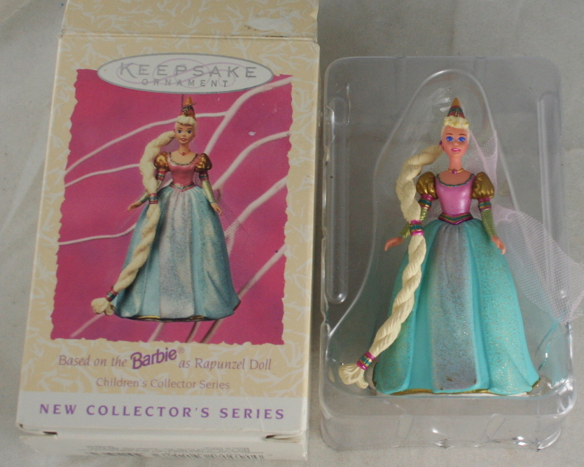 vintage christmas,hallmark,Barbie,Rapunzel,1997,First in Series