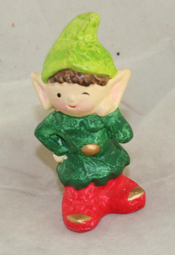 vintage christmas,Japan,plaster,Homco,elf