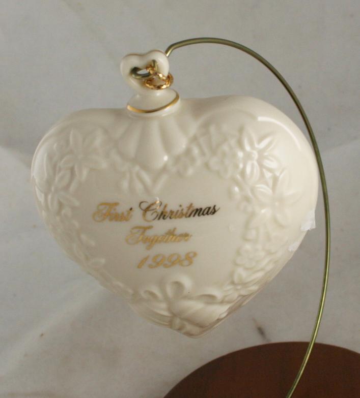 vintage christmas,Lenox,first christmas together,1998,porcelain