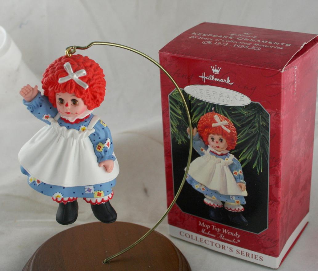 vintage vintage christmas,Hallmark,Madame Alexander,Series,Mop Top Wendy,1998