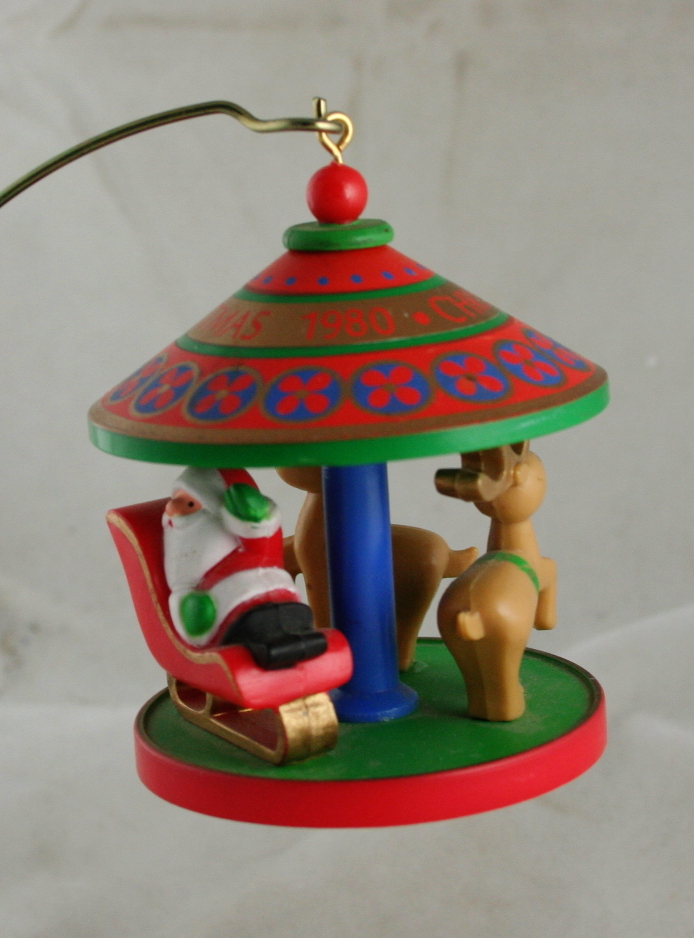 vintage christmas,Hallmark,Keepsake,1980,Santa Carrousel,series,Holiday Carrousel
