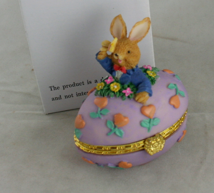 Easter,collector box,resin,egg,bunny