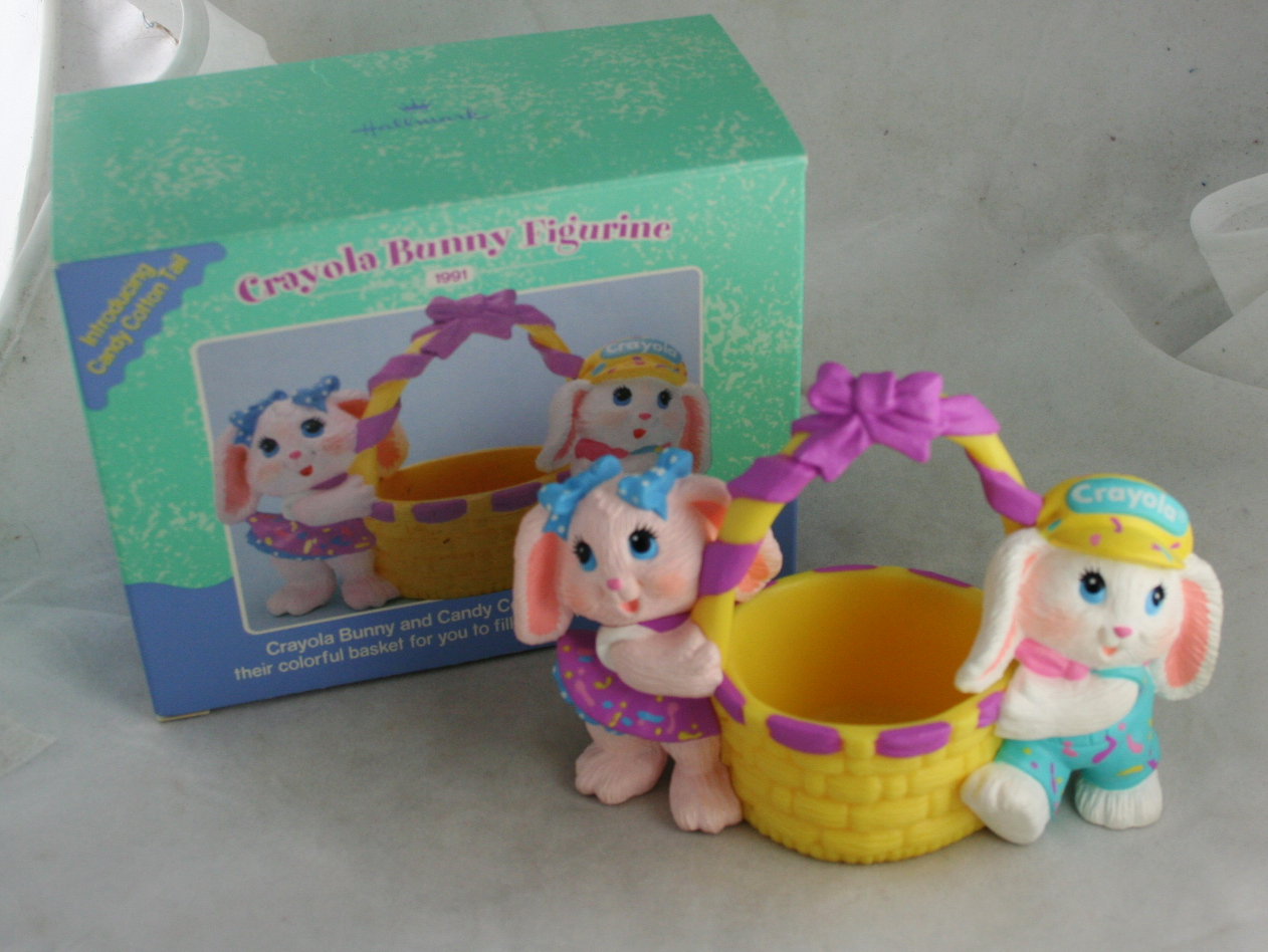 Easter,Hallmark,figurine,bunny,easter bunny,crayola