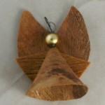 vintage ornament,handcrafted,Hawaii,angel,coconut fiber