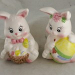 ceramic,salt,pepper,Easter,bunny