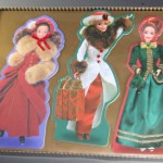 Barbie,Christmas,cards,embossed,1996