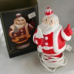 reproduction,hard plastic,santa light,king santa