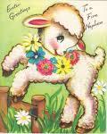 lamb,spring,flowers