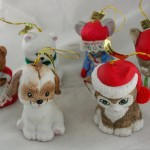 jasco,lil chimers,bell,ornaments,ceramic,bisque,hand painted