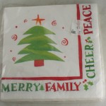 napkins,Christmas,tree,sayings,ephemera