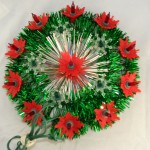 vintage lights,miniature,poinsettia,starburst,wall hanging