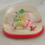 vintage snowdome,snowglobe,teddy hugglesbee,gibson