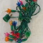 vintage lights,light string,petal shaped light bulbs,miniature lights