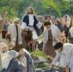 palm sunday,art,donkey,Jesus,palms