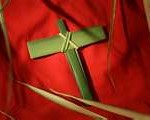 palm sunday,cross,palms