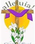 cross,easter,lilies,alleluia