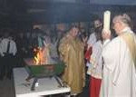 easter vigil,paschal candle,lighting,fire