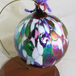 vintage ornament,hand blown,ball,friendship ball,witch ball,suncatcher