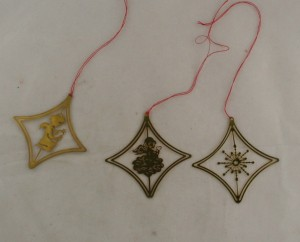 vintage ornaments,brass