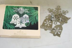 vintage ornaments,plated brass,Hallmark
