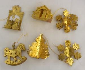 vintage ornaments,brass,3D