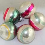 vintage ornaments,Shiny Brite,stripes