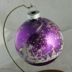 vintage ornament,Shiny Brite,stencil,glass ball