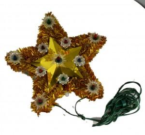 Lighted Tinsel & Foil Treetopper