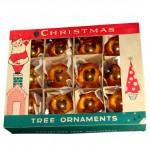 Litho Box, Hand Blown Gold Glass Ball Ornaments