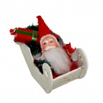 Chenille Santa,Mica Sled
