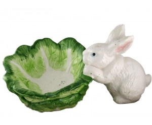 Dept 56 Bunny Easter Dish