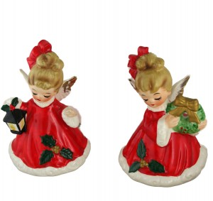 Josef Originals Ceramic Angel Bells, Japan